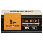 Field & Stream 9mm FMJ Handgun Ammunition – 50 Rounds