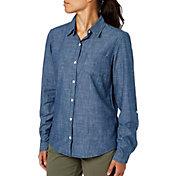 Field & Stream Women's Chambray Button Down Long Sleeve Shirt