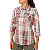 Field & Stream Women's Woven Plaid Button Down Long Sleeve Shirt