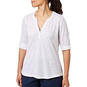 Field & Stream Women's Y-Neck ¾ Sleeve Shirt