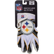 Franklin Pittsburgh Steelers Team Logo Receiver Gloves