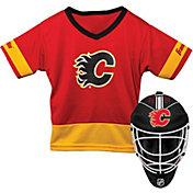 Franklin Calgary Flames Goalie Uniform Costume Set