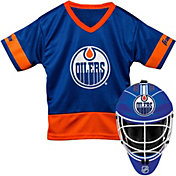 Franklin Edmonton Oilers Goalie Uniform Costume Set