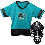 Franklin San Jose Sharks Goalie Uniform Costume Set