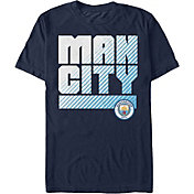 Fifth Sun Men's Manchester City Wordmark Navy T-Shirt