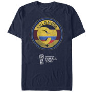 Fifth Sun Men's FIFA 2018 World Cup Russia Colombia Contrast Round Navy T-Shirt