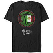 Fifth Sun Men's FIFA 2018 World Cup Russia Mexico Contrast Round Black T-Shirt
