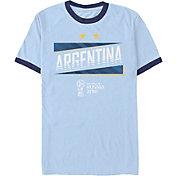 Fifth Sun Men's 2018 FIFA World Cup Argentina Ringer Blue T-Shirt