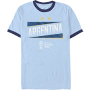 Fifth Sun Men's 2018 FIFA World Cup Argentina Ringer Blue T-Shirt
