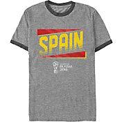 Fifth Sun Men's 2018 FIFA World Cup Spain Ringer Grey T-Shirt