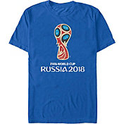 Fifth Sun Men's FIFA 2018 World Cup Russia World Cup Trophy Logo Royal T-Shirt