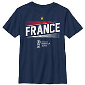 Fifth Sun Youth FIFA 2018 World Cup Russia France Slanted Navy T-Shirt