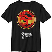 Fifth Sun Youth FIFA 2018 World Cup Russia Germany Contrast Round Black T-Shirt
