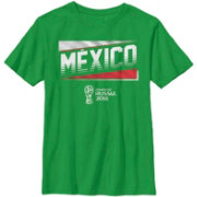 Fifth Sun Youth FIFA 2018 World Cup Russia Mexico Slanted Green T-Shirt