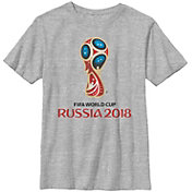 Fifth Sun Youth FIFA 2018 World Cup Russia World Cup Trophy Logo Heather Grey T-Shirt
