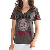 G-III For Her Women's Alabama Crimson Tide Grey In the Finals V-Neck T-Shirt