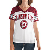 G-III For Her Women's Alabama Crimson Tide White/Crimson Free Agent V-Neck T-Shirt