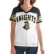 G-III For Her Women's UCF Knights White/Black Free Agent V-Neck T-Shirt