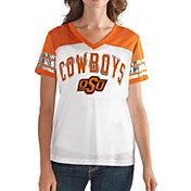 G-III For Her Women's Oklahoma State Cowboys White/Orange Free Agent V-Neck T-Shirt