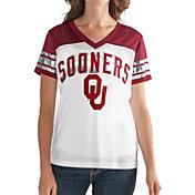G-III For Her Women's Oklahoma Sooners White/Crimson Free Agent V-Neck T-Shirt