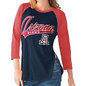 G-III For Her Arizona Wildcats Navy/Cardinal Halftime Three-Quarter Raglan T-Shirt