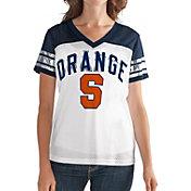 G-III For Her Women's Syracuse Orange White/Blue Free Agent V-Neck T-Shirt