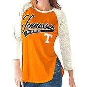 G-III For Her Tennessee Volunteers Tennessee Orange/White Halftime Three-Quarter Raglan T-Shirt