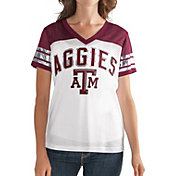 G-III For Her Women's Texas A&M Aggies White/Maroon Free Agent V-Neck T-Shirt