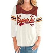 G-III For Her Women's Virginia Tech Hokies White Endzone Three-Quarter Sleeve T-Shirt