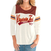G-III For Her Women's Virginia Tech Hokies White Endzone Three-Quarter Sleeve T-Shirt