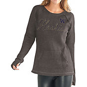 G-III For Her Women's Washington Huskies Charcoal Offseason Pull-Over Shirt