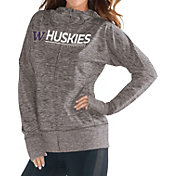 G-III For Her Women's Washington Huskies Grey Receiver Full-Zip Hoodie