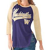 G-III For Her Washington Huskies Purple/Gold Halftime Three-Quarter Raglan T-Shirt