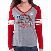 G-III for Her Women's NFC Champions Atlanta Falcons Raglan Red Long Sleeve Shirt