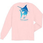 Guy Harvey Boys' Marlin Scribble Long Sleeve Shirt