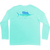Guy Harvey Men's Sailfish Scribble Performance Long Sleeve Shirt