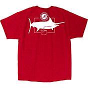 Guy Harvey Men's Alabama Crimson Tide Crimson Logo T-Shirt