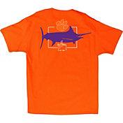 Guy Harvey Men's Clemson Tigers Orange Logo T-Shirt