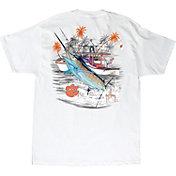 Guy Harvey Men's Clemson Tigers Collegiate Boat White T-Shirt