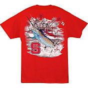 Guy Harvey Men's NC State Wolfpack Red Collegiate Boat T-Shirt
