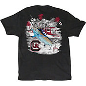 Guy Harvey Men's South Carolina Gamecocks Collegiate Boat Black T-Shirt
