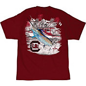 Guy Harvey Men's South Carolina Gamecocks Garnet Collegiate Boat T-Shirt