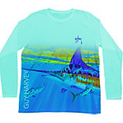 Guy Harvey Men's In The Grass Performance Long Sleeve Shirt