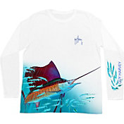 Guy Harvey Men's Out of the Blue Performance Long Sleeve Shirt