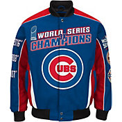 G-III Men's Chicago Cubs 3x World Series Champions Royal Button Down Jacket