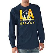 G-III Men's LA Galaxy Logo Navy Long Sleeve T-Shirt