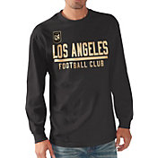 G-III Men's Los Angeles FC Logo Black Long Sleeve T-Shirt