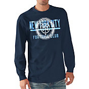 G-III Men's New York City FC Logo Navy Long Sleeve T-Shirt