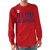 G-III Men's New York Red Bulls Logo Red Long Sleeve T-Shirt