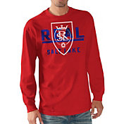 G-III Men's Real Salt Lake Logo Red Long Sleeve T-Shirt